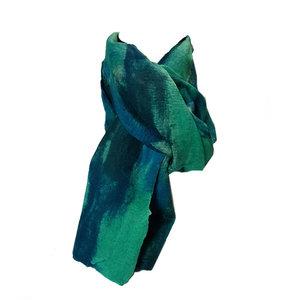 sjaal-vilt-chiffon-groen-petrol