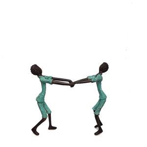 dansende-mannen-brons-groen