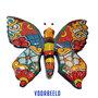 Vlinder keramiek L oranje